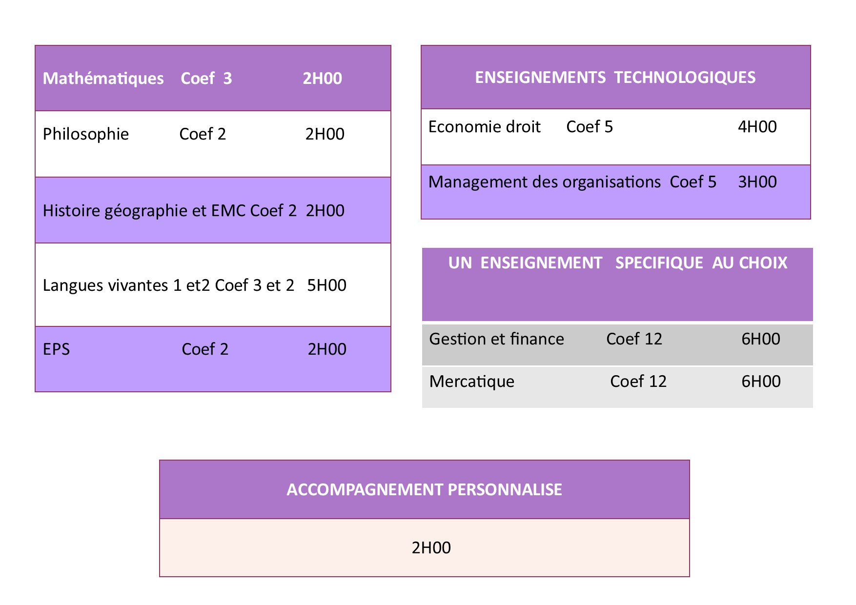 horaire terminale stmg